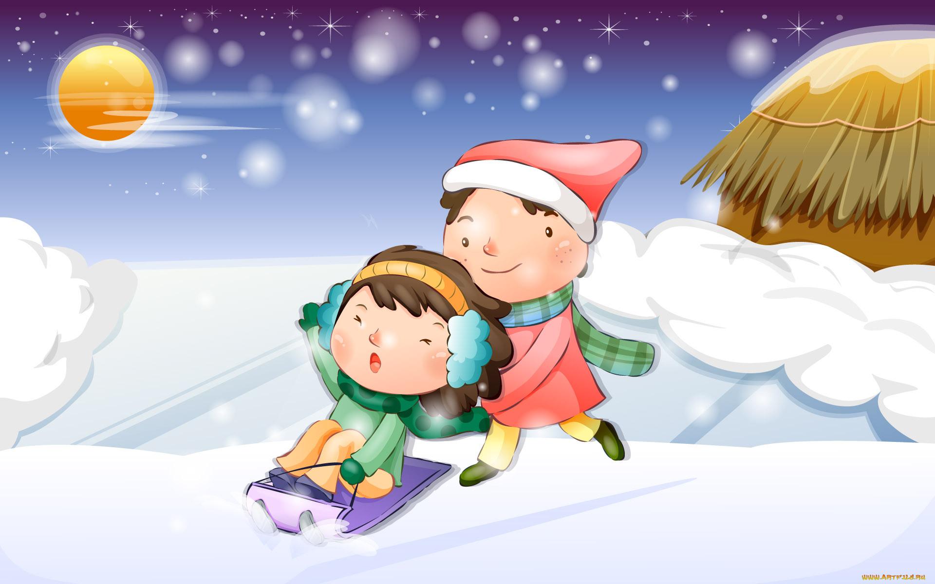 Погода зима картинки для детей
